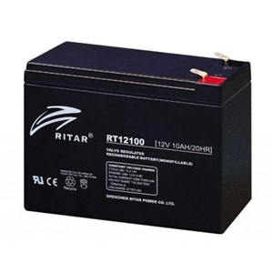 RITAR AGM Batteri 12V 10AH (151x65x111mm) F2
