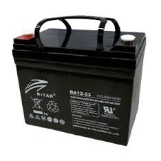 RITAR AGM Deep Cycle Batteri 12V 33AH +venstre