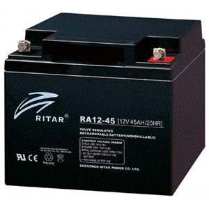 RITAR AGM Deep Cycle Batteri 12V 45AH +høyre