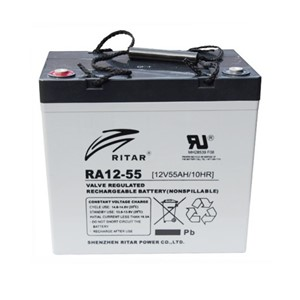 RITAR AGM Deep Cycle Batteri 12V 55AH +venstre