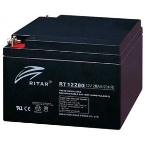 RITAR AGM Batteri 12V 28AH (166x175x125mm) M5