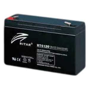 RITAR AGM Batteri 6V 12AH (151x50x95mm) F1