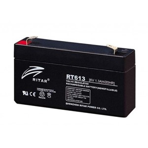 RITAR AGM Batteri 6V 1,3AH (94x24x52mm) F1