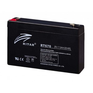 RITAR AGM Batteri 6V 7AH (151x34x94mm) F1